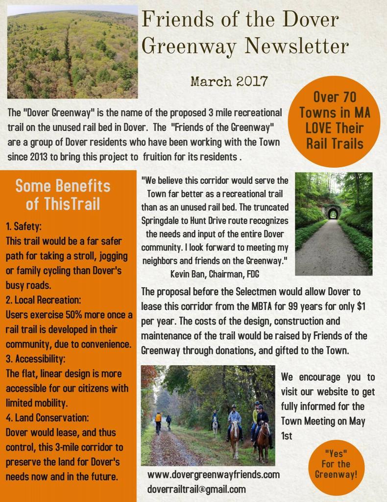 Newsletter, March 2017,